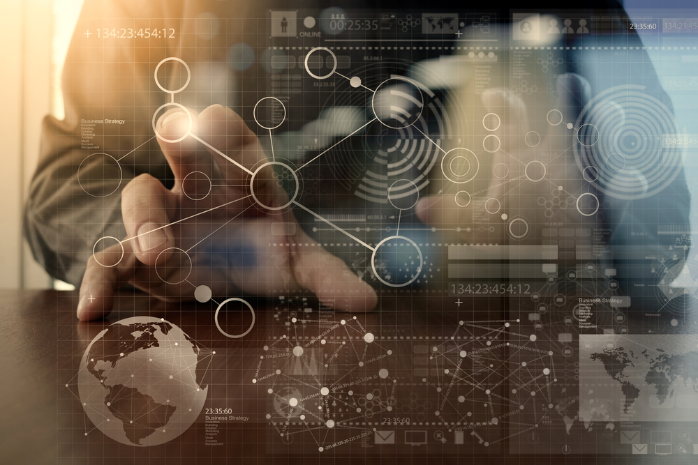 businessman hand working with modern technology and digital layer effect as business strategy concept-2